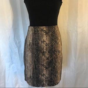 Express Design Studio Pencil Skirt-Snake Print